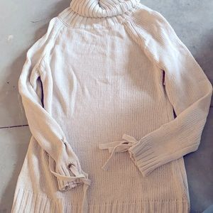 RUE21 Long cowl neck tan sweater small